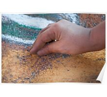 drawing with chalks Poster