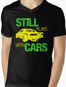 Still plays with cars (5) Mens V-Neck T-Shirt