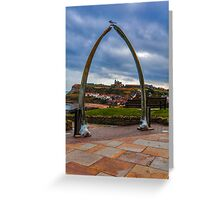 Whitby Whale Bones Greeting Card