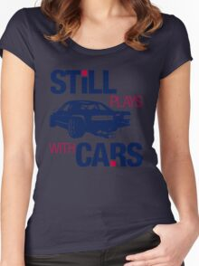 Still plays with cars (6) Women's Fitted Scoop T-Shirt