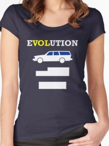 eVOLution (2) Women's Fitted Scoop T-Shirt