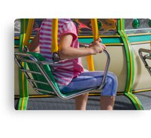 carousel in the park Canvas Print