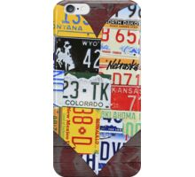Heart of America Recycled License Plate Art iPhone Case/Skin