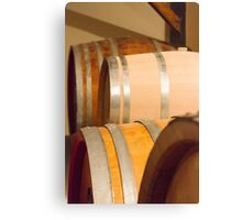 Old barrel for wine Canvas Print