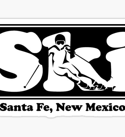 Santa Fe, New Mexico SKI Graphic for Skiing your favorite mountain, city or resort town Sticker