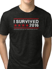 I Survived 2016 - White Version Tri-blend T-Shirt