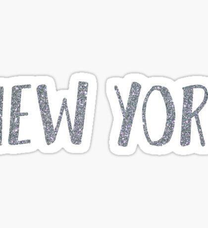 Glitter New York Sticker Sticker