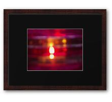 Flame in Pink Framed Print
