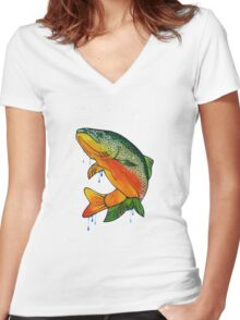 Fishing Fools  Women's Fitted V-Neck T-Shirt
