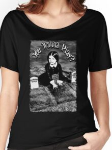 """Wednesday Addams- """"You Wanna Play?"""": Women's Relaxed Fit T-Shirt"""