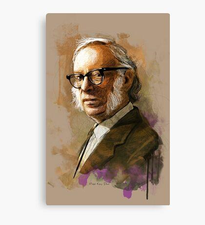 Isaac Asimov Portrait Canvas Print