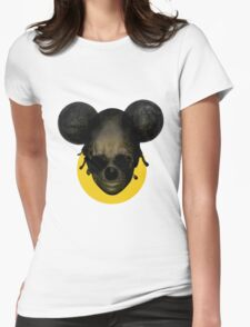 Weird Mickey Mouse Womens Fitted T-Shirt