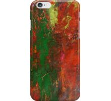 Horizon Red Sunset Landscape Modern Abstract Painting in Acrylic  iPhone Case/Skin