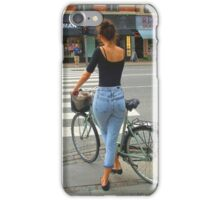 Baby makes her blue jeans talk iPhone Case/Skin