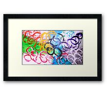 color and circles Framed Print