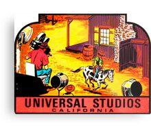 Universal Studios California Vintage Travel Decal Metal Print