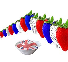 English Strawberries and Cream by Campix