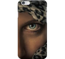 Woman with scarf iPhone Case/Skin