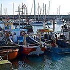 Small fishing boats by John (Mike)  Dobson