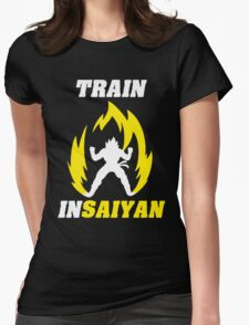 Train Insaiyan Womens Fitted T-Shirt