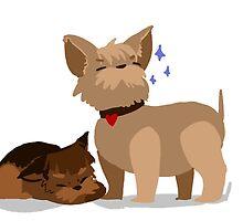 Yorkie Pups by curioscurio