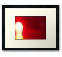Red Glow Framed Print