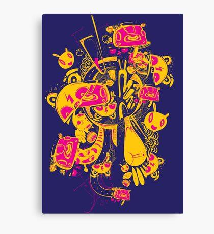 wild monster in the dark Canvas Print