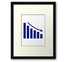 Diagram chart loss Framed Print