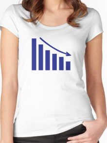 Diagram chart loss Women's Fitted Scoop T-Shirt