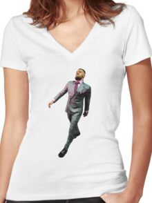 """""""Conor Mcgregor Walk"""" Women's Fitted V-Neck T-Shirt"""