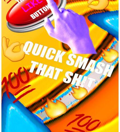 Smash That Like Button Sticker