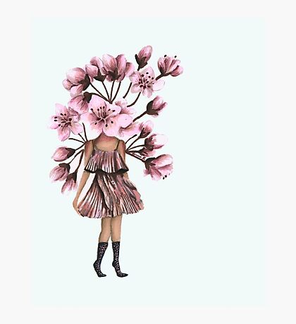 Cherry Blossom Girl Photographic Print