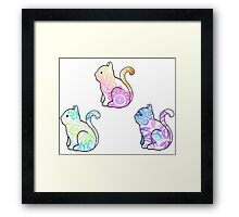 Tie Dye Cute Kitties Pack Framed Print