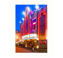 Neon Dreams - Mérida Theater Marquee Art Print