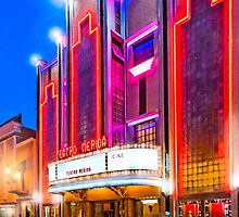 Neon Dreams - Mérida Theater Marquee by Mark Tisdale