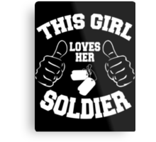 This girl lover her SOLDIER Metal Print