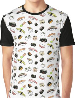 Sushi Characters Pattern Graphic T-Shirt