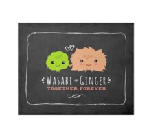 Wasabi and Ginger Together Forever Art Board