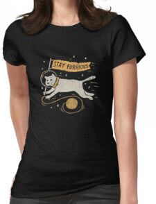 Stay Furrious Womens Fitted T-Shirt