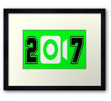 Happy New Years - 2017 Framed Print