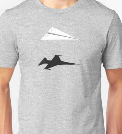A flight of imagination (F16 Fighting Falcon) Unisex T-Shirt