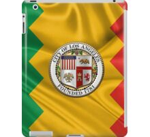Los Angeles City Seal over Flag of L.A. iPad Case/Skin