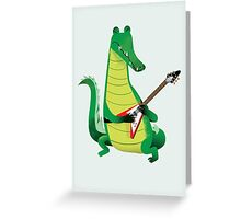 Crocodile Rock Greeting Card