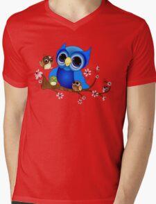 Mother Owl Mens V-Neck T-Shirt