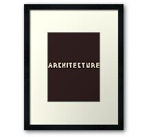Architecture Blocks Architecture T-shirt Framed Print