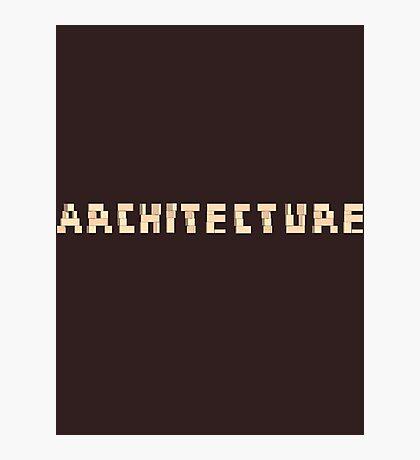 Architecture Blocks Architecture T-shirt Photographic Print