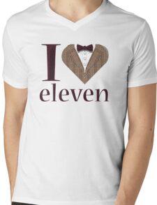 I Heart Eleven Mens V-Neck T-Shirt
