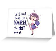 No yarn, Not going - Crochet Pink Greeting Card