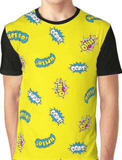 Seamless pattern - Hello,oops,Ohh Comic sound Graphic T-Shirt