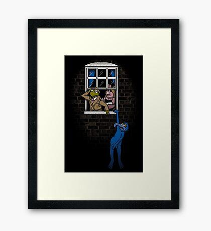 Banksy Muppets Framed Print
